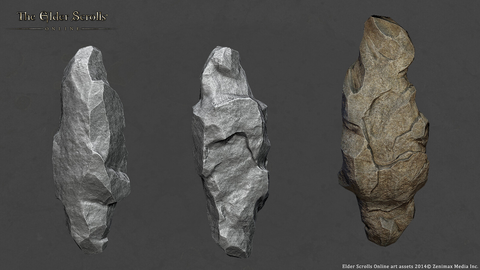 Hero Rock 02- created using 3dsmax/Zbrush and Photoshop for ESO.