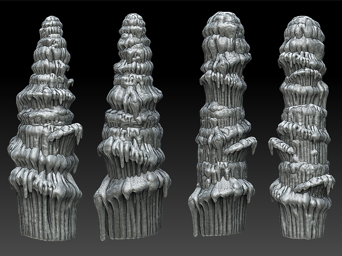 Zbrush sculpt for Stalactite assets created for ESO.