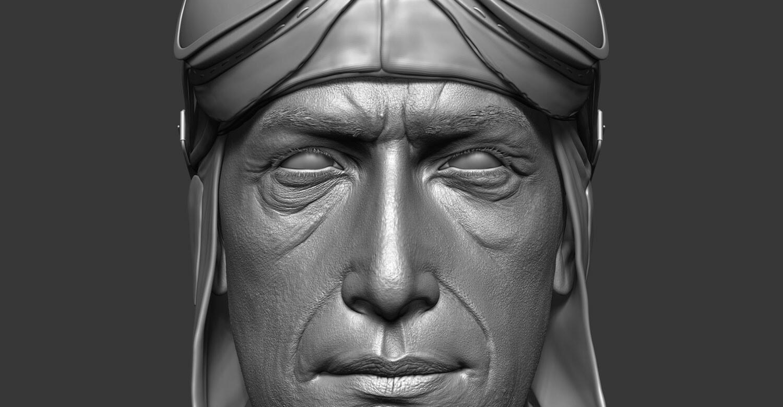 ZBrush High-res face closeup