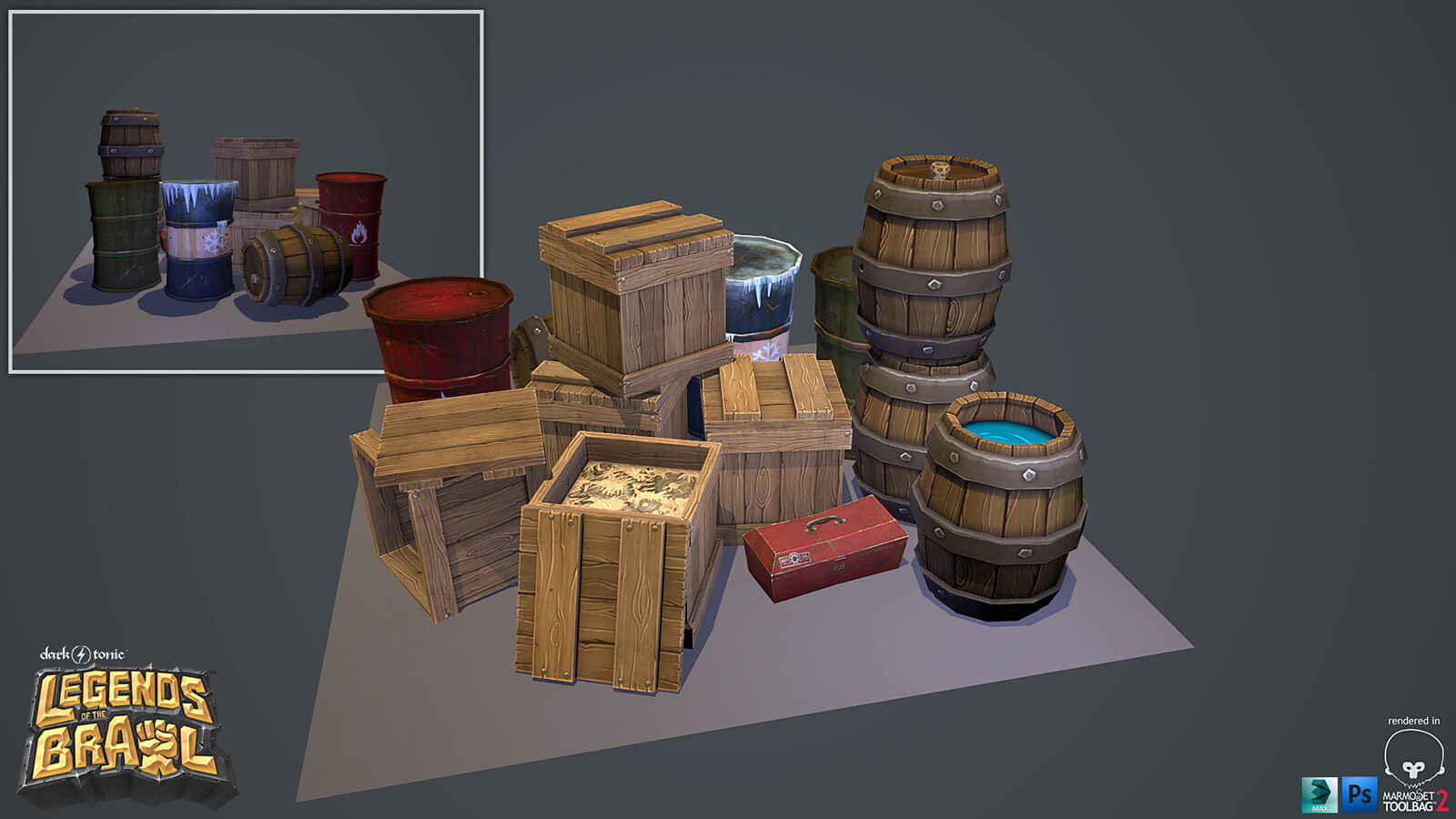 Legends of the Brawl - Props and Texture Work