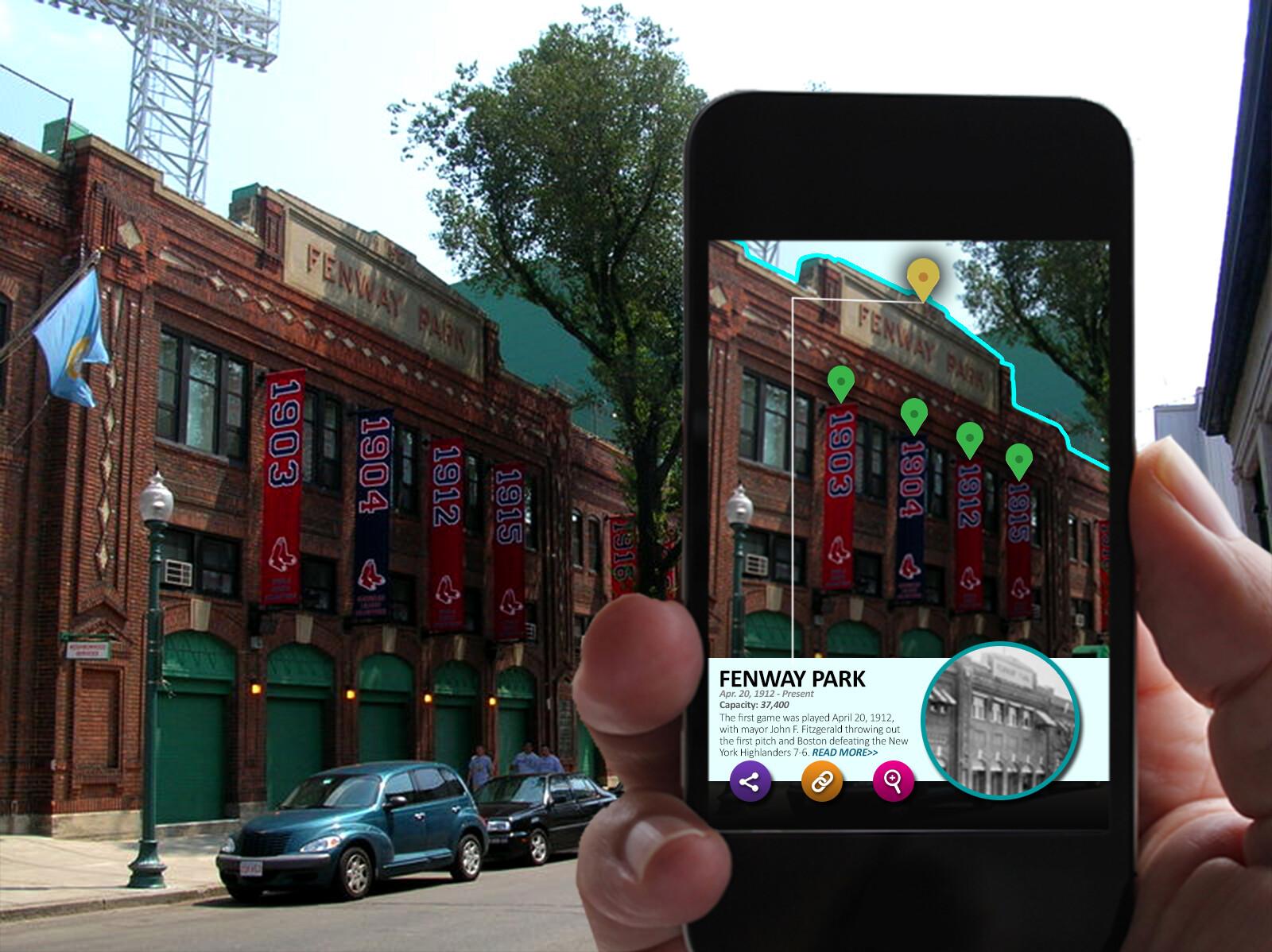 UI mockup for an AR app.