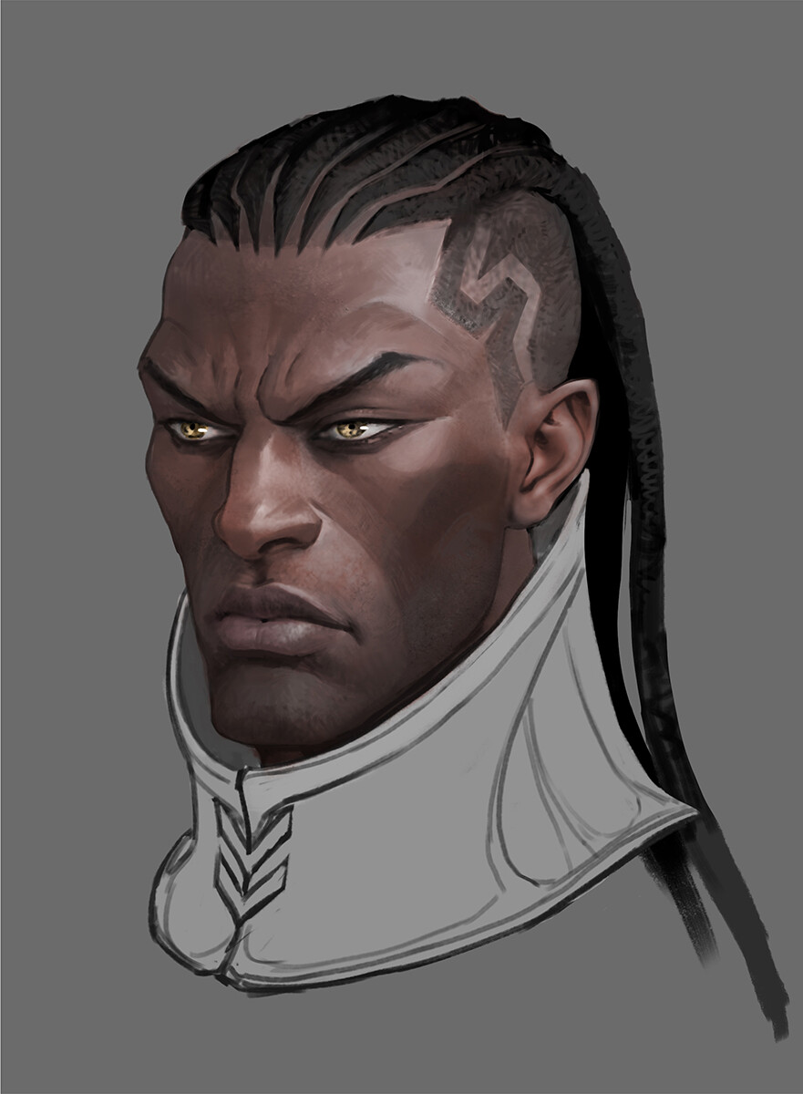 Lucian concept art from The Climb.