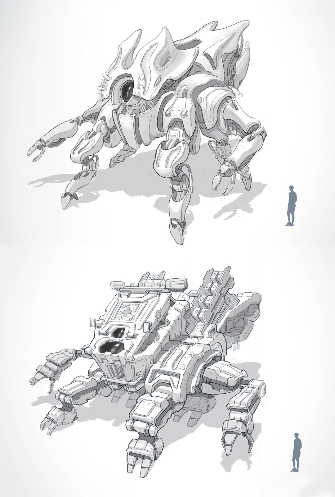 Search and Rescue Mech Sketches