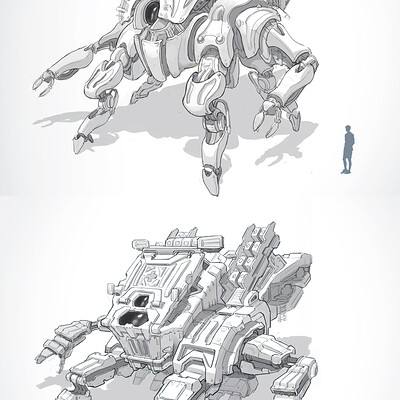 Anh le mech sketch 1