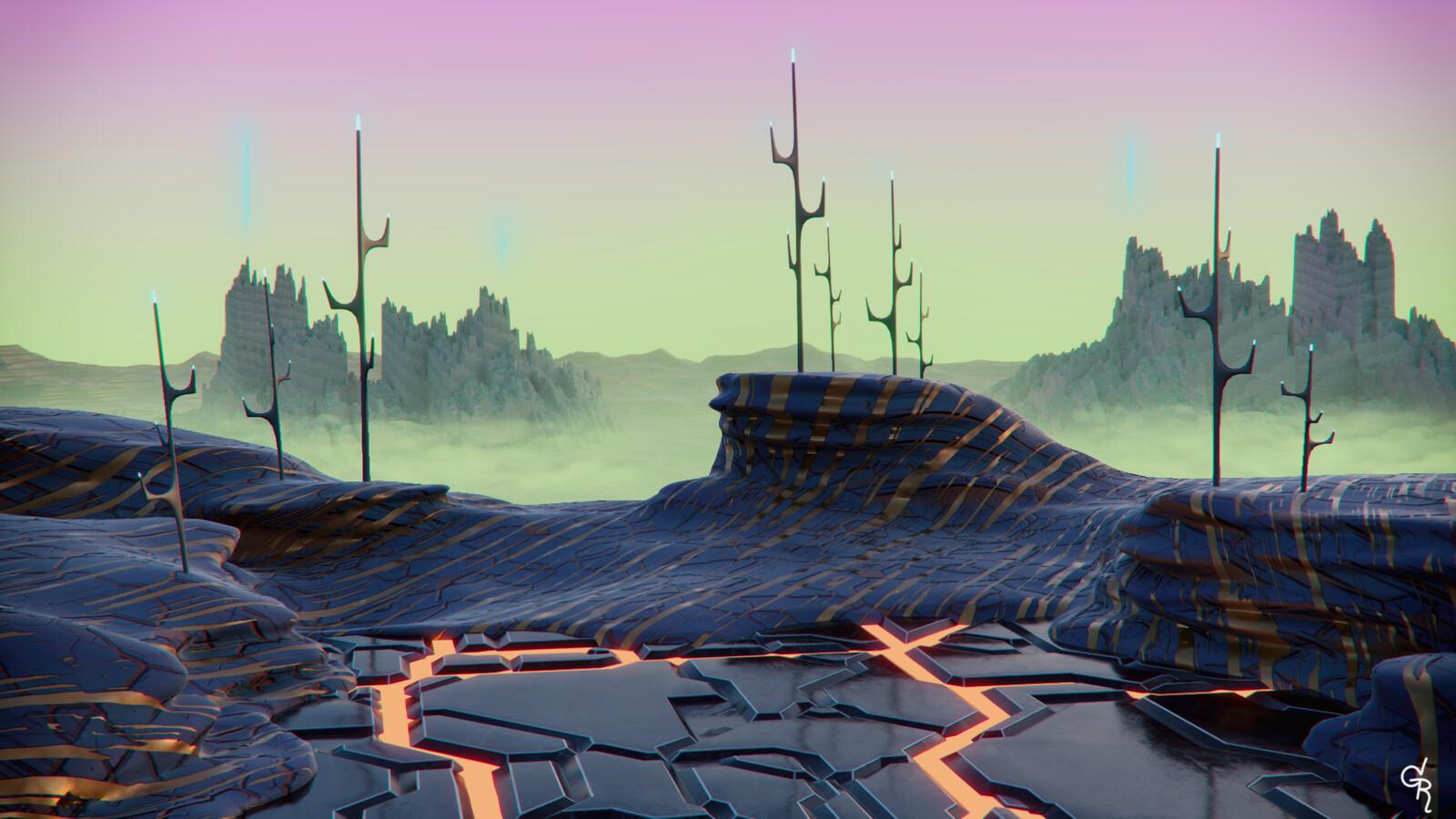 Alien tech planet