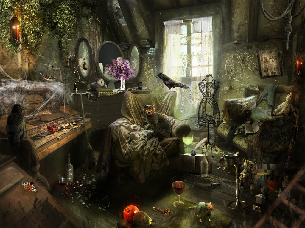 Artstation Scene For Scary Hidden Object Game Izabela Maszloch