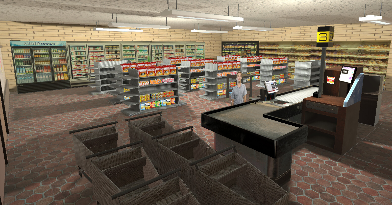 VR Grocery Store - In Engine