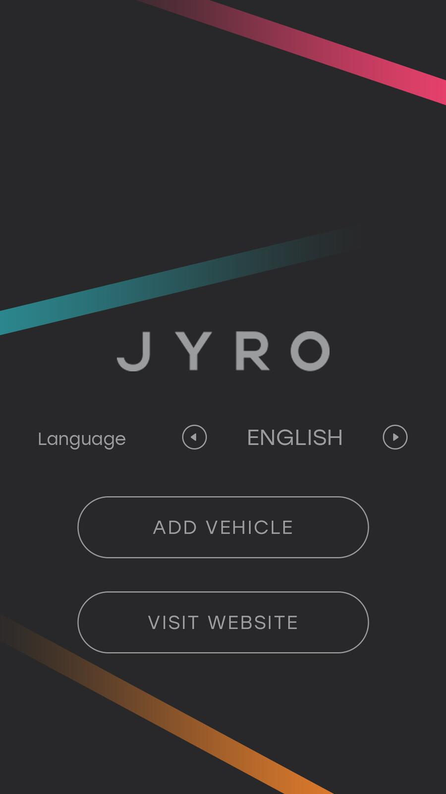Final UI art for Jyro app.