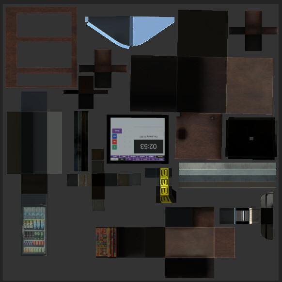 VR Grocery Store Hero Item - UV + Albedo Set 2
