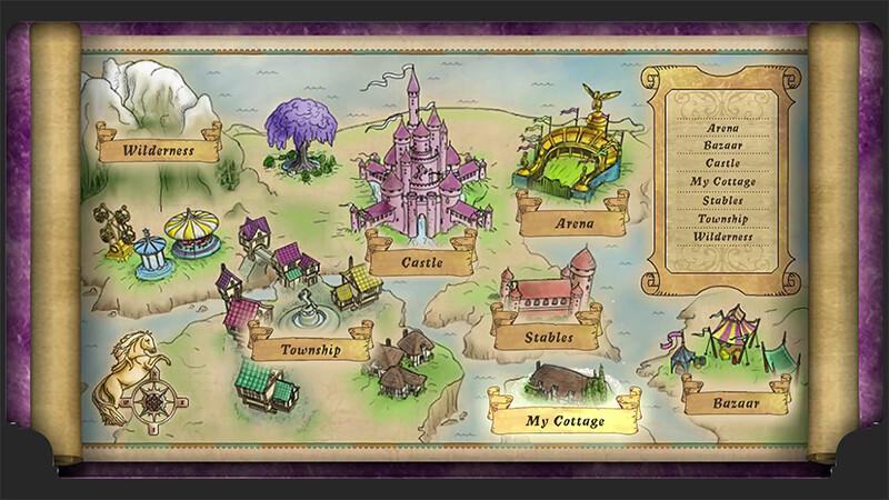 Art for Bellasara World, flash browser game.