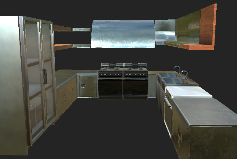 VR Kitchen - Substance Painter