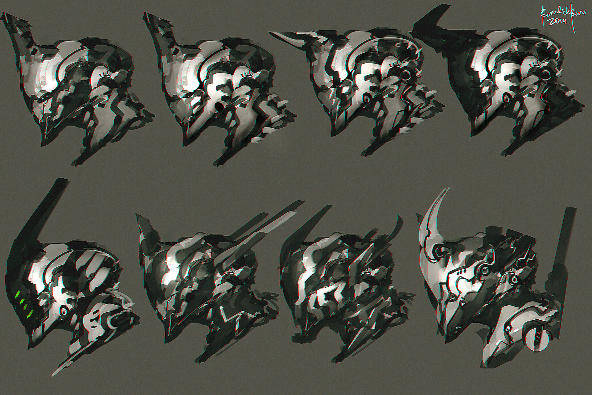 Scifi Head Designs C