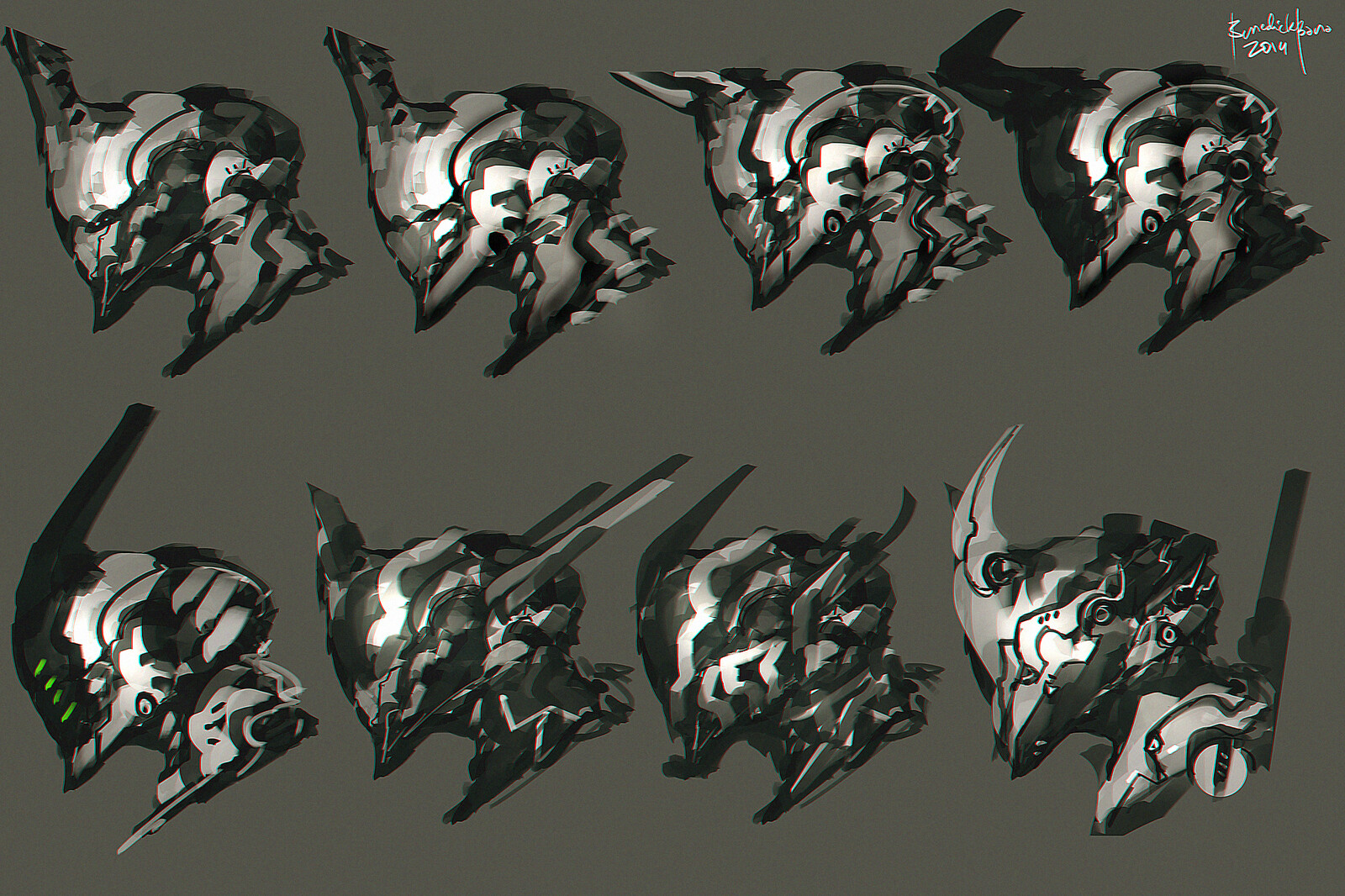 Scifi Head Designs C