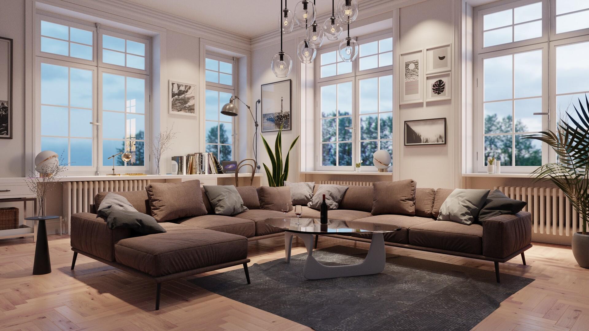 Artstation Scandinavian Living Room George Turmanidze
