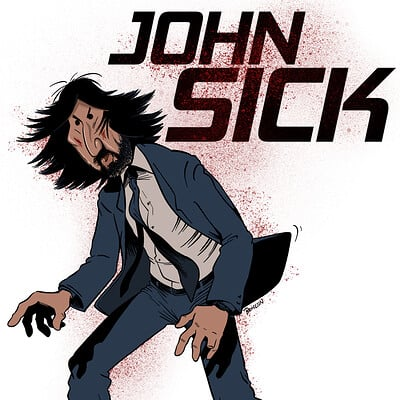 John Sick Fan Art Caricature