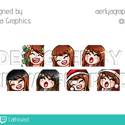 Aerlya graphics sample emotes reg hal xmas