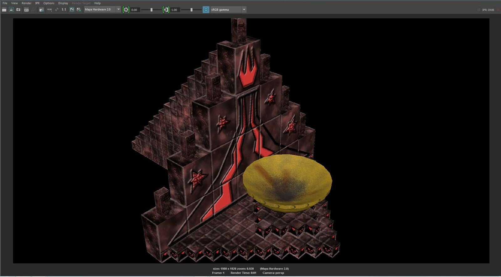 The final 3D model of the Inner Fire Sacrificial Shrine