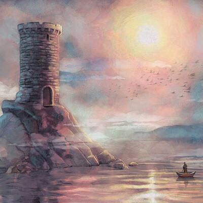 Olga dannik dannik olga castle towerartstation