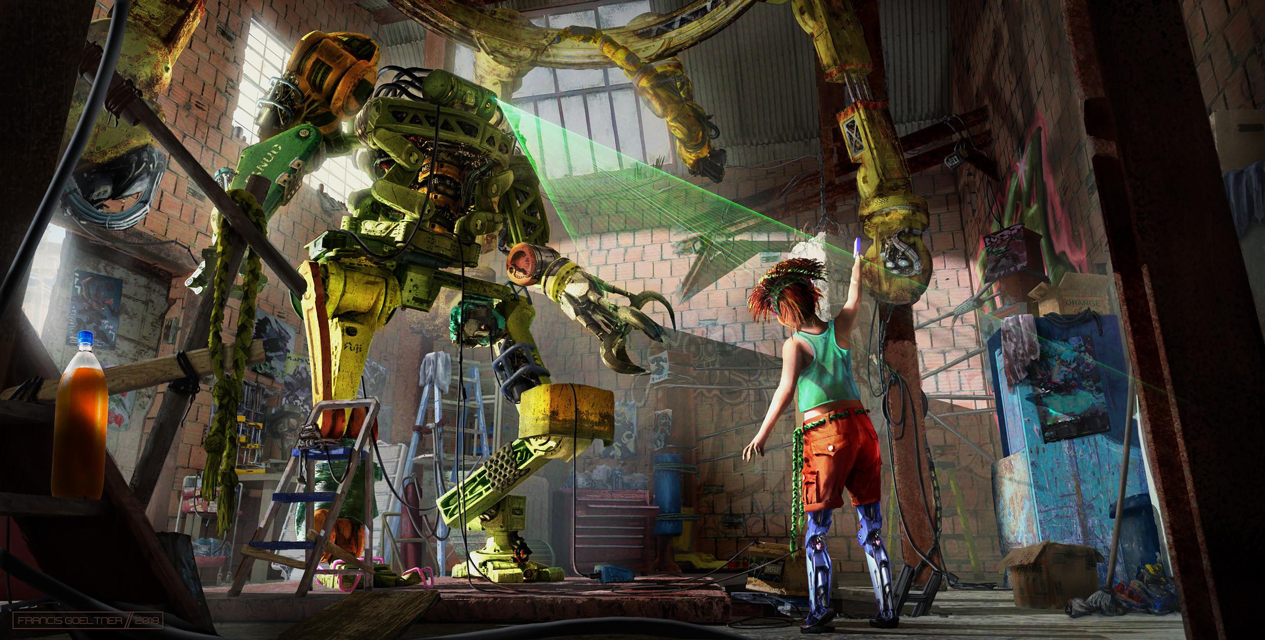 Gael's Robot Workshop - Interior