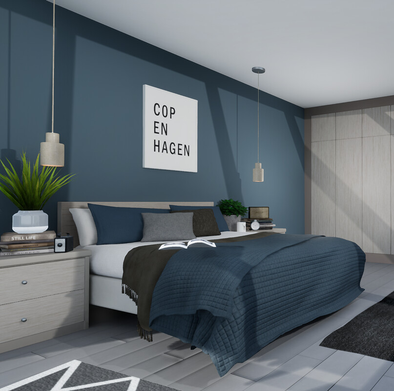 Contemporary Nordic Bedroom