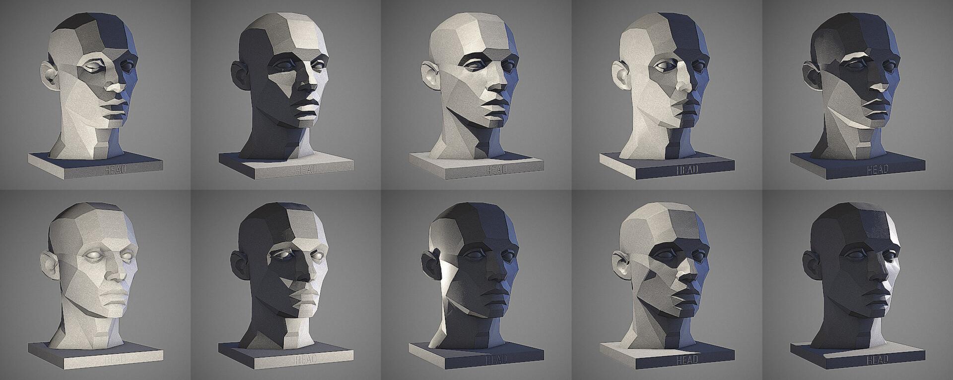 Artstation Male Head Light Reference Tool William Nguyen