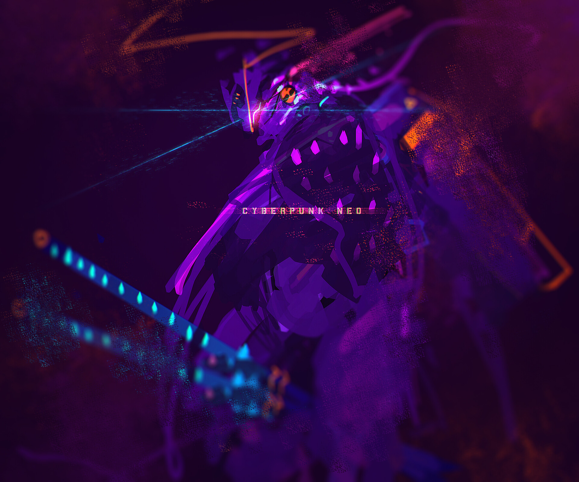Speedpainting Cyberpunk Neo Ninja - concept art  - speedpainting style