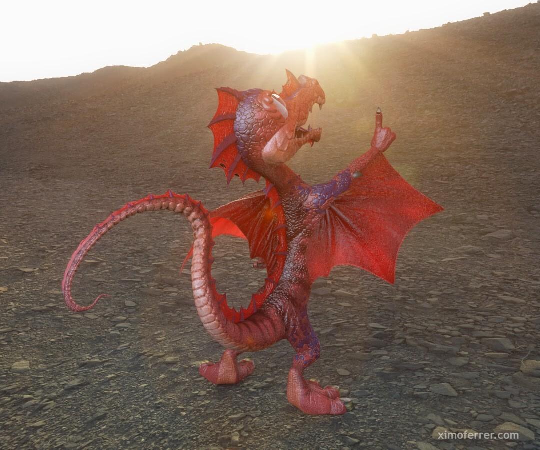 Ximo ferrer dragon rojo 1