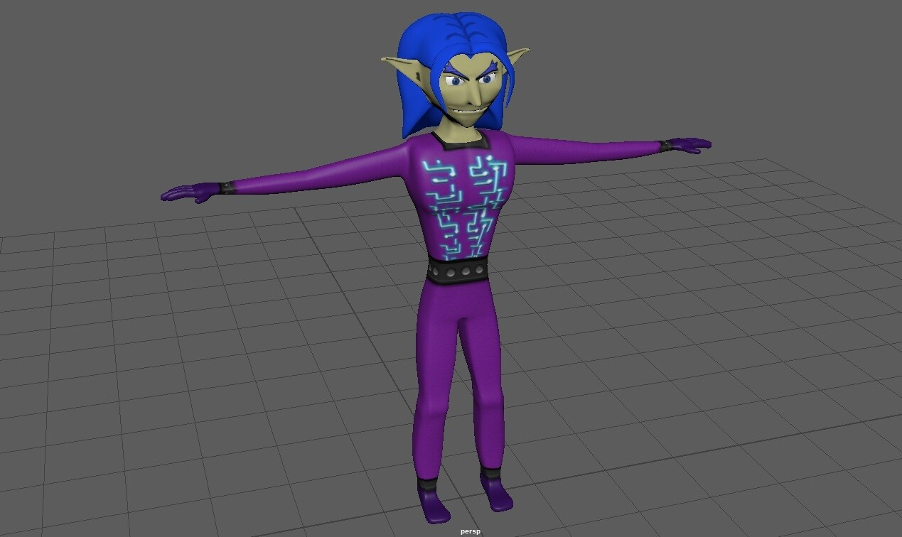 The final 3D model of the Yenen character