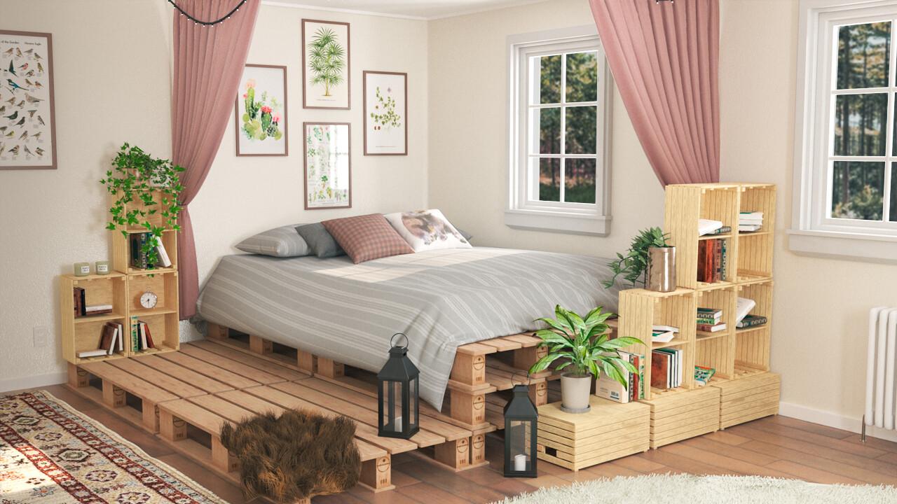 Artstation Pallet Bedroom Decor Nikita Nielsen
