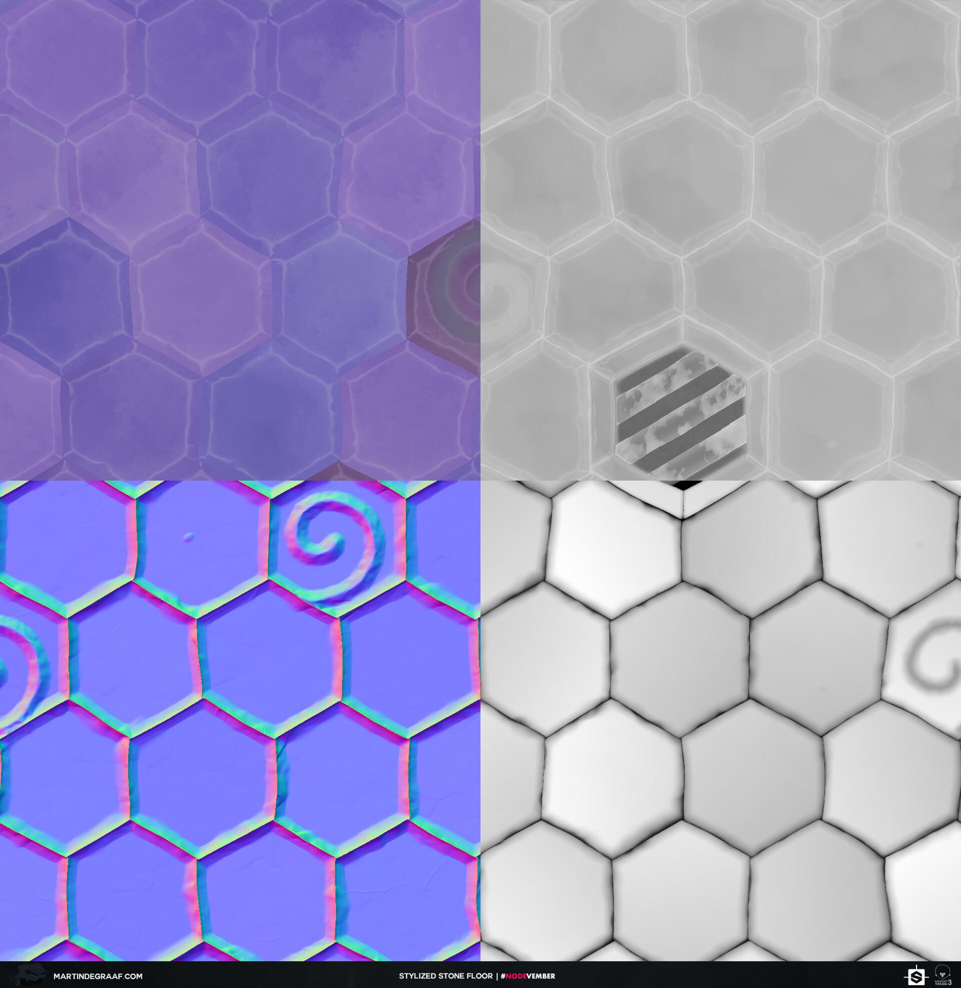 Martin de graaf stylized stone floor substance texturesheet martin de graaf 2019