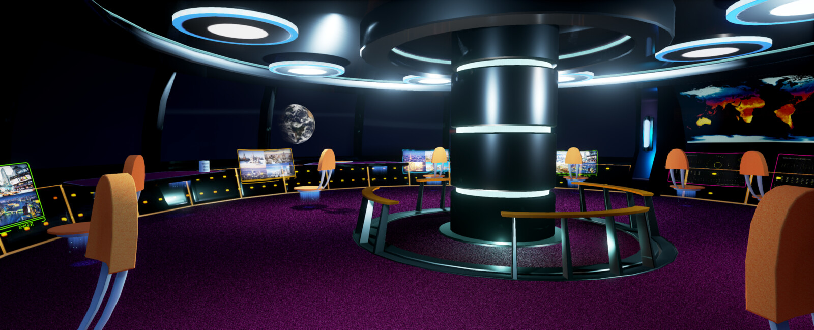 Earth Observation Deck, Unreal Engine 4