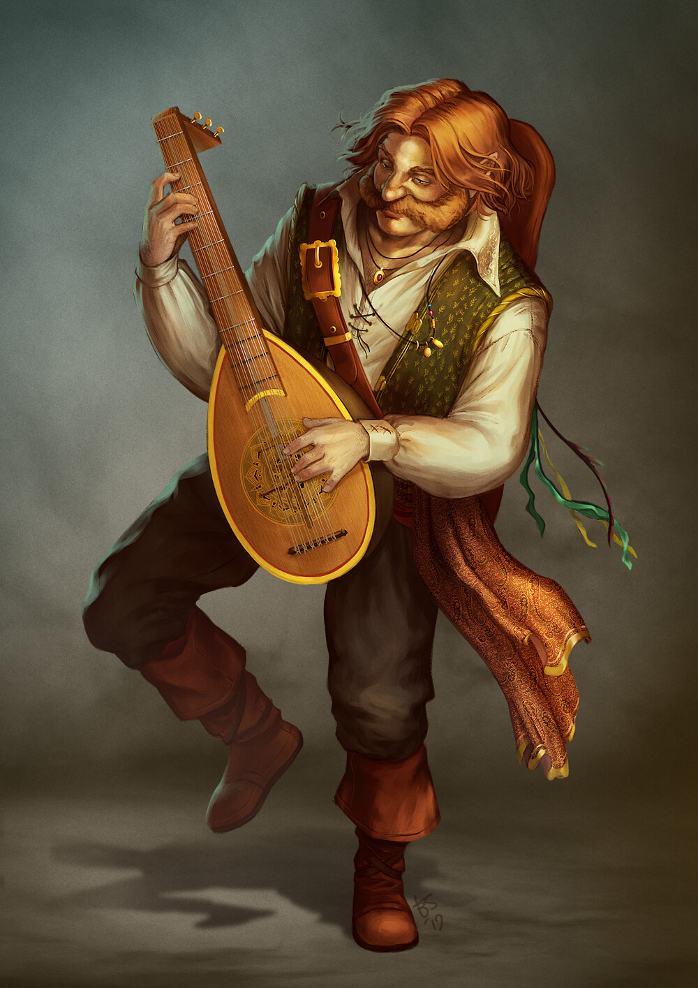 Halfling bard - dnd commission