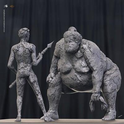 Surajit sen facing digital sculpture surajitsen nov2019