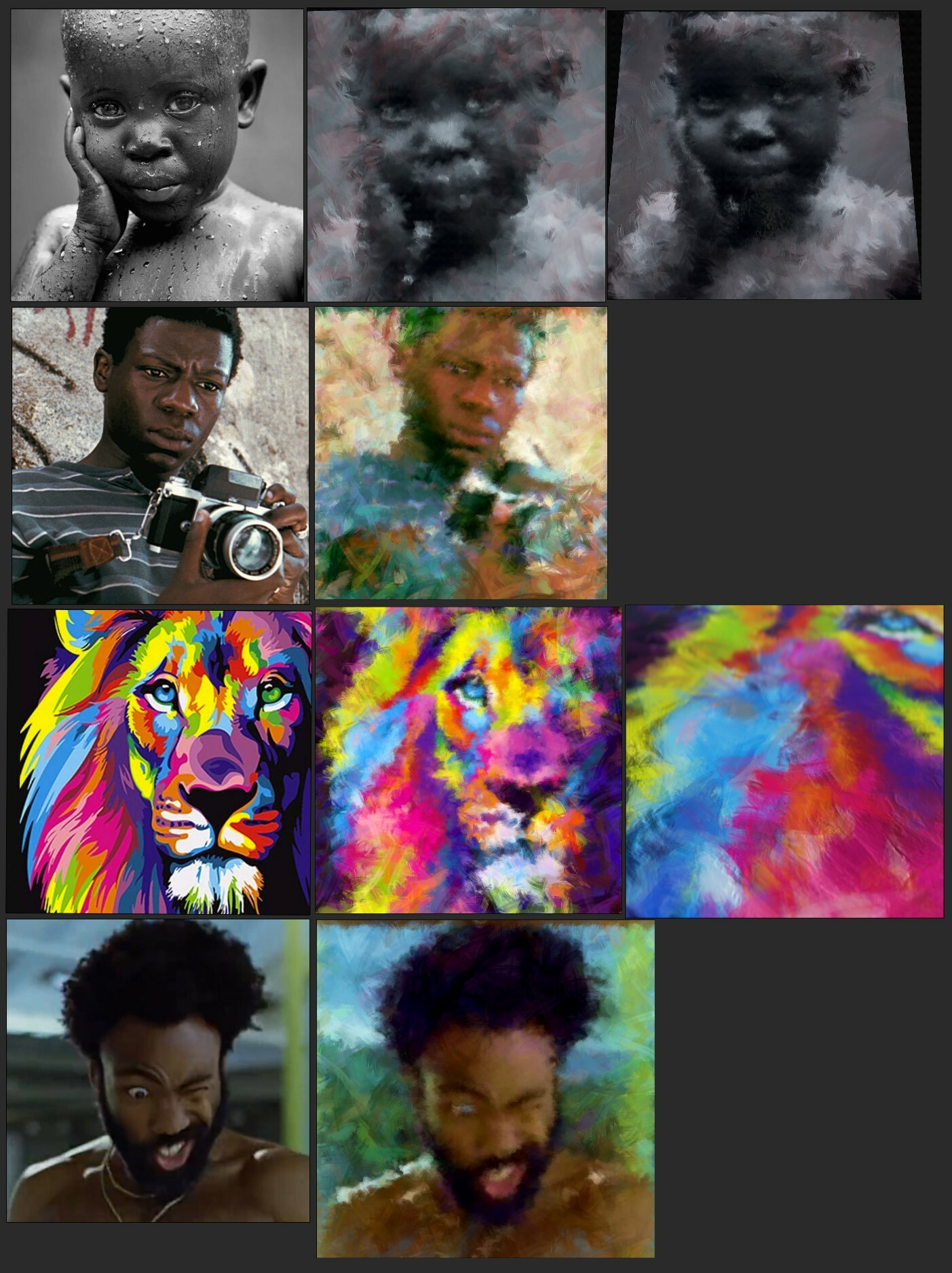 Some of the frames i ha ve sampled to test.