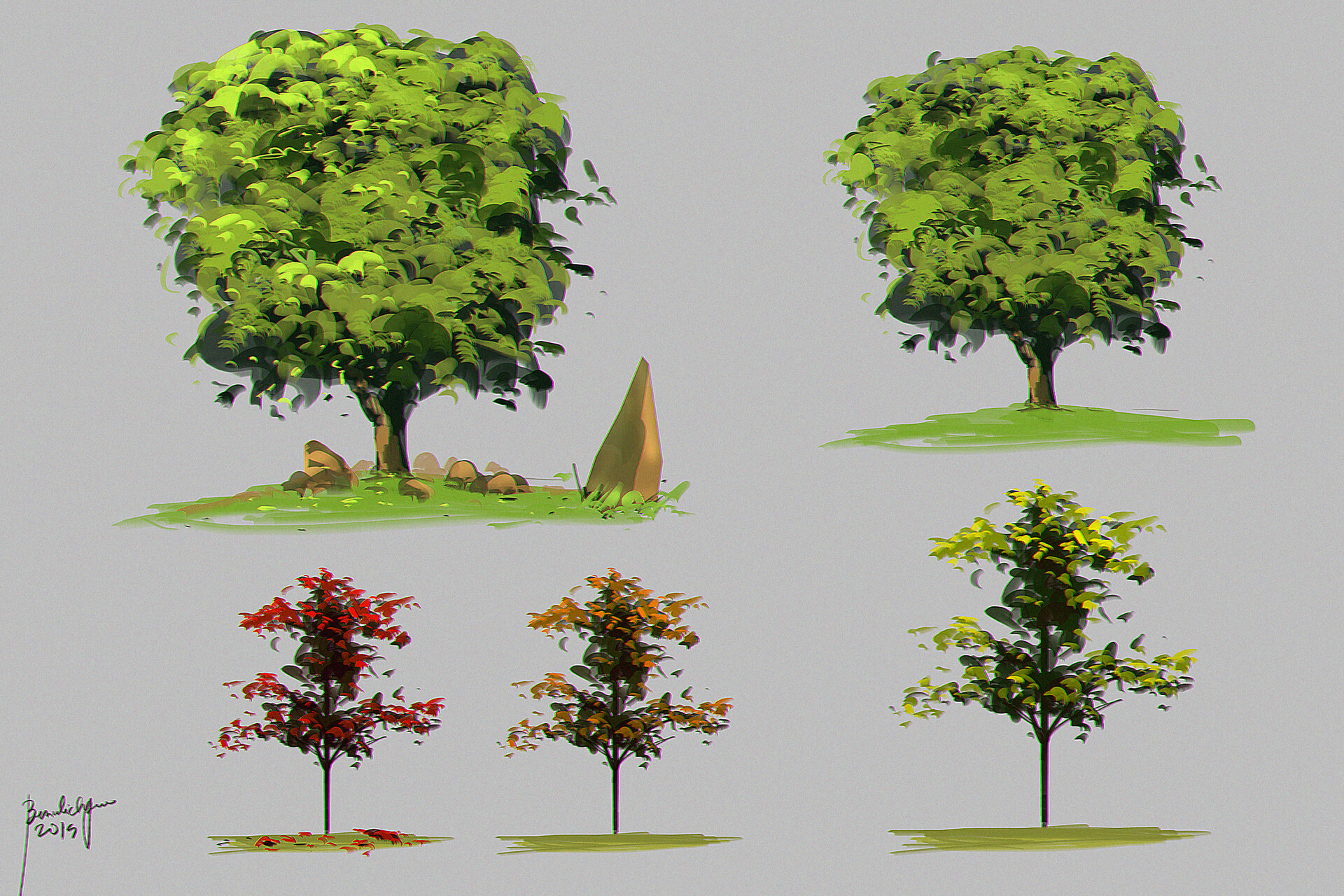 another round of tree designs :D