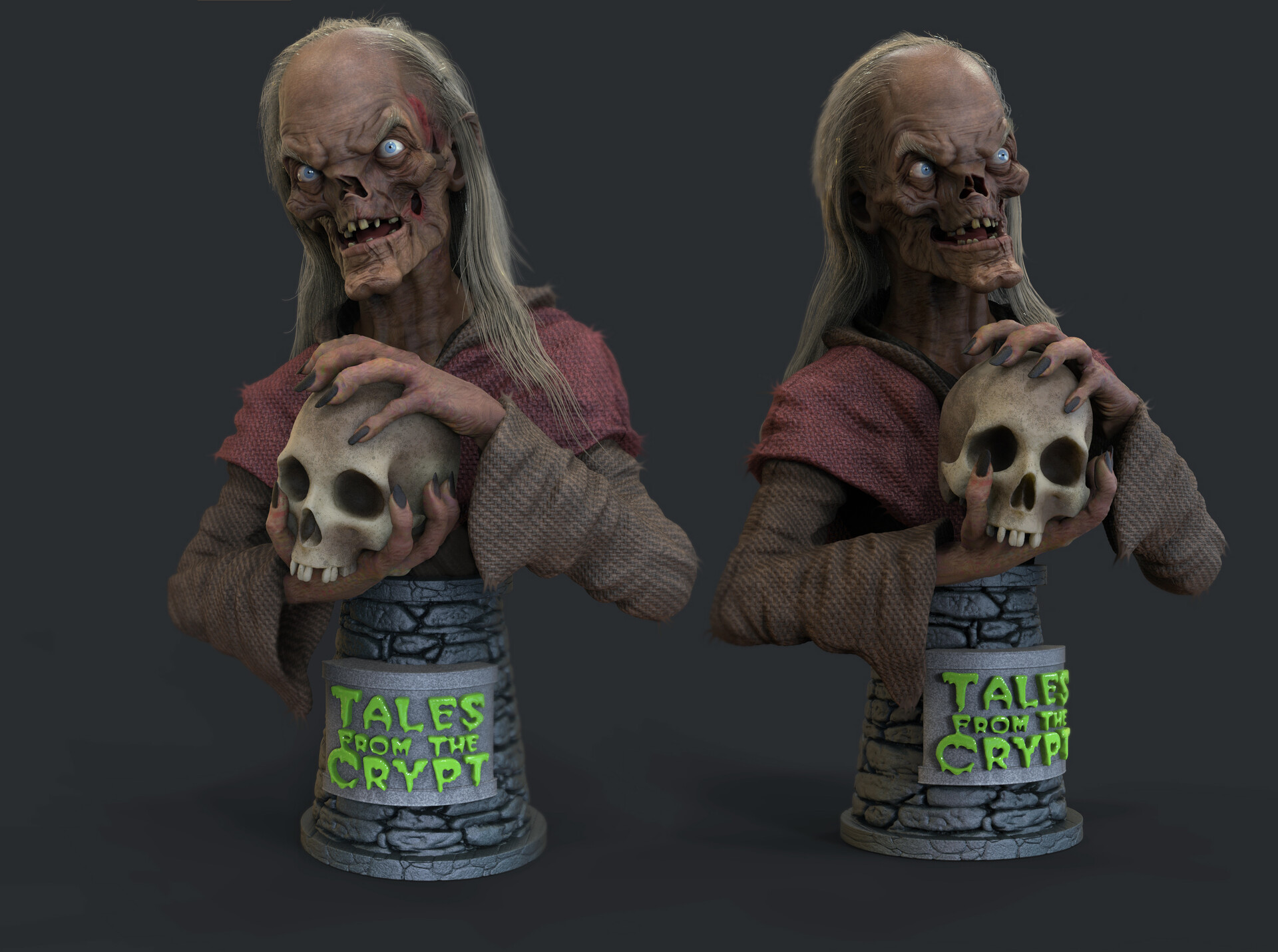 Artstation Tales From The Crypt Crypt Keeper 3d Printed