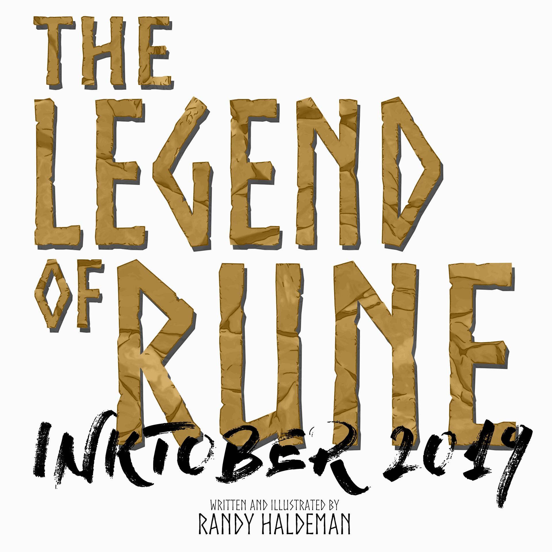 Randy haldeman rune inktober cover