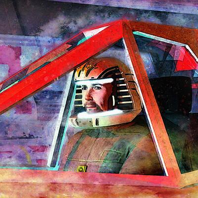 Luca oleastri battlestar galactica viper pilot firma