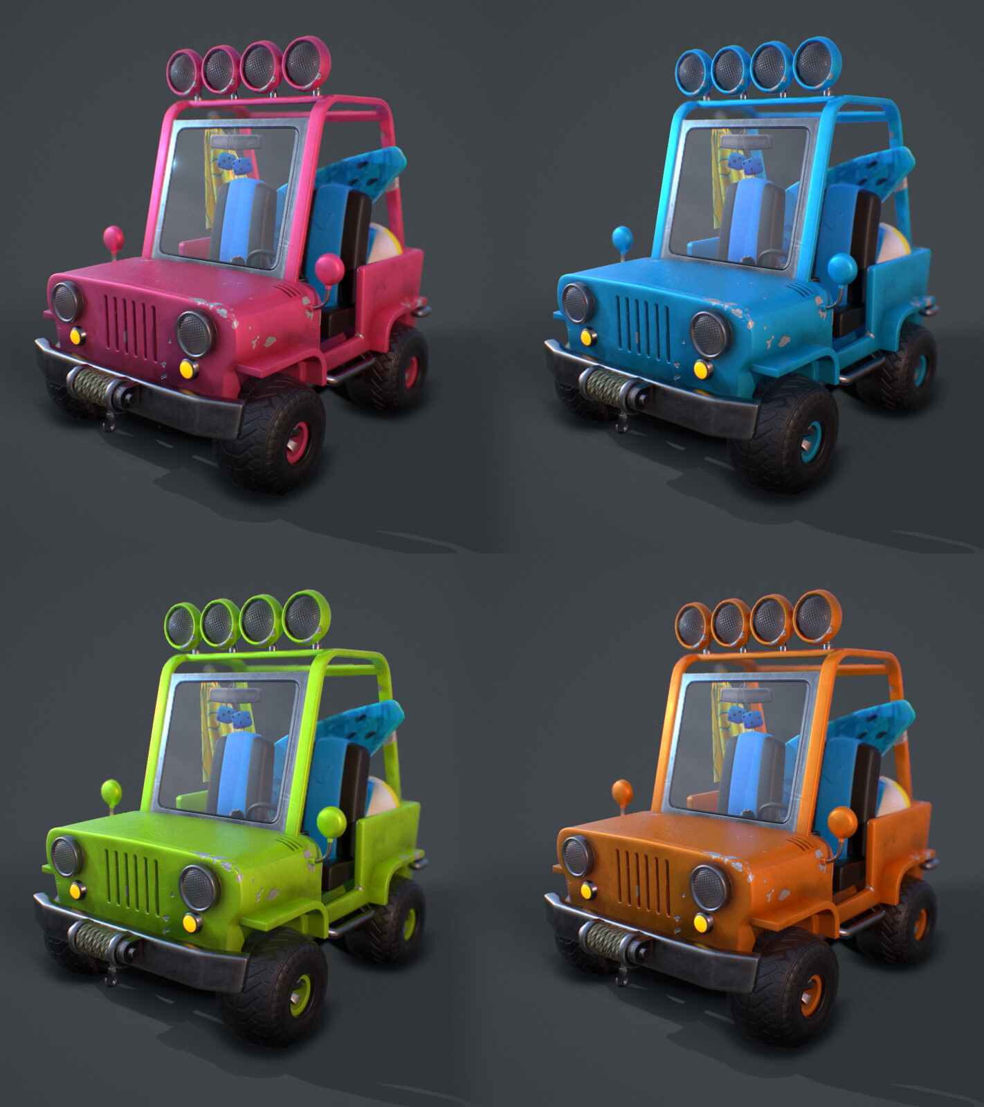 Beach Jeep / Color Tests