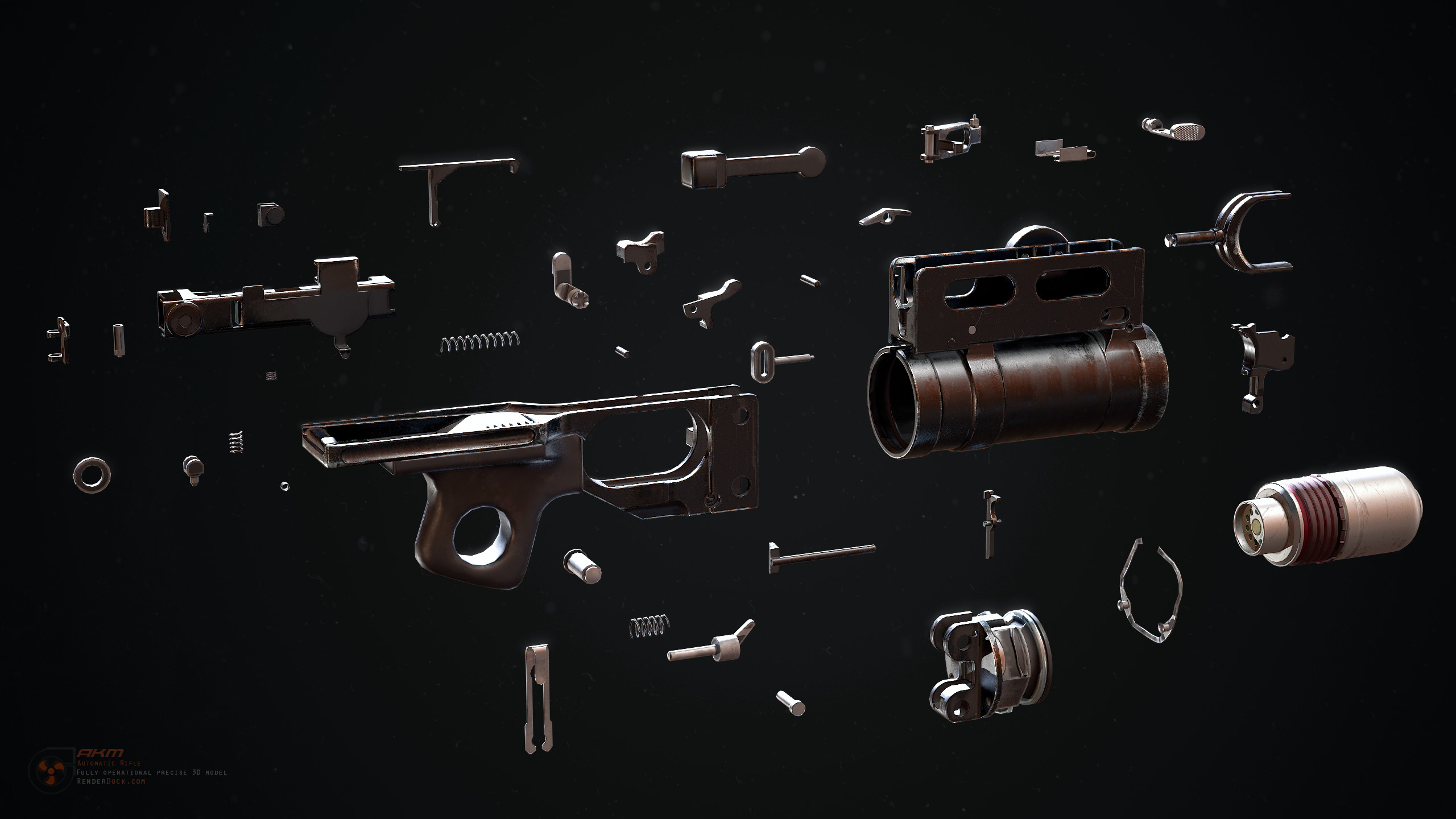 GP-25 40mm grenade launcher strip