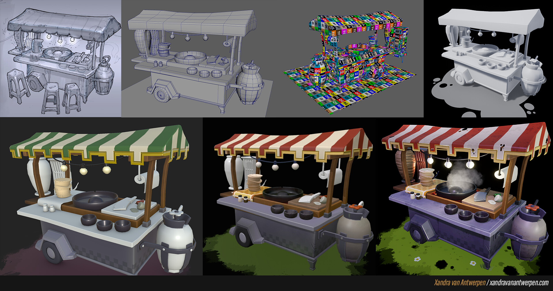 The process throughout the creation of the stand. For each step I continiously asked for feedback from different sources.