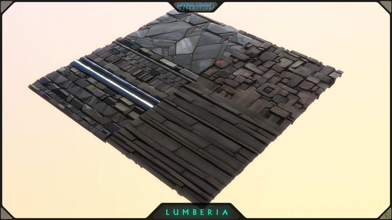 Main atlas used for Dungeon/Temple Assets of Lumberia, combining trims/tiles =)