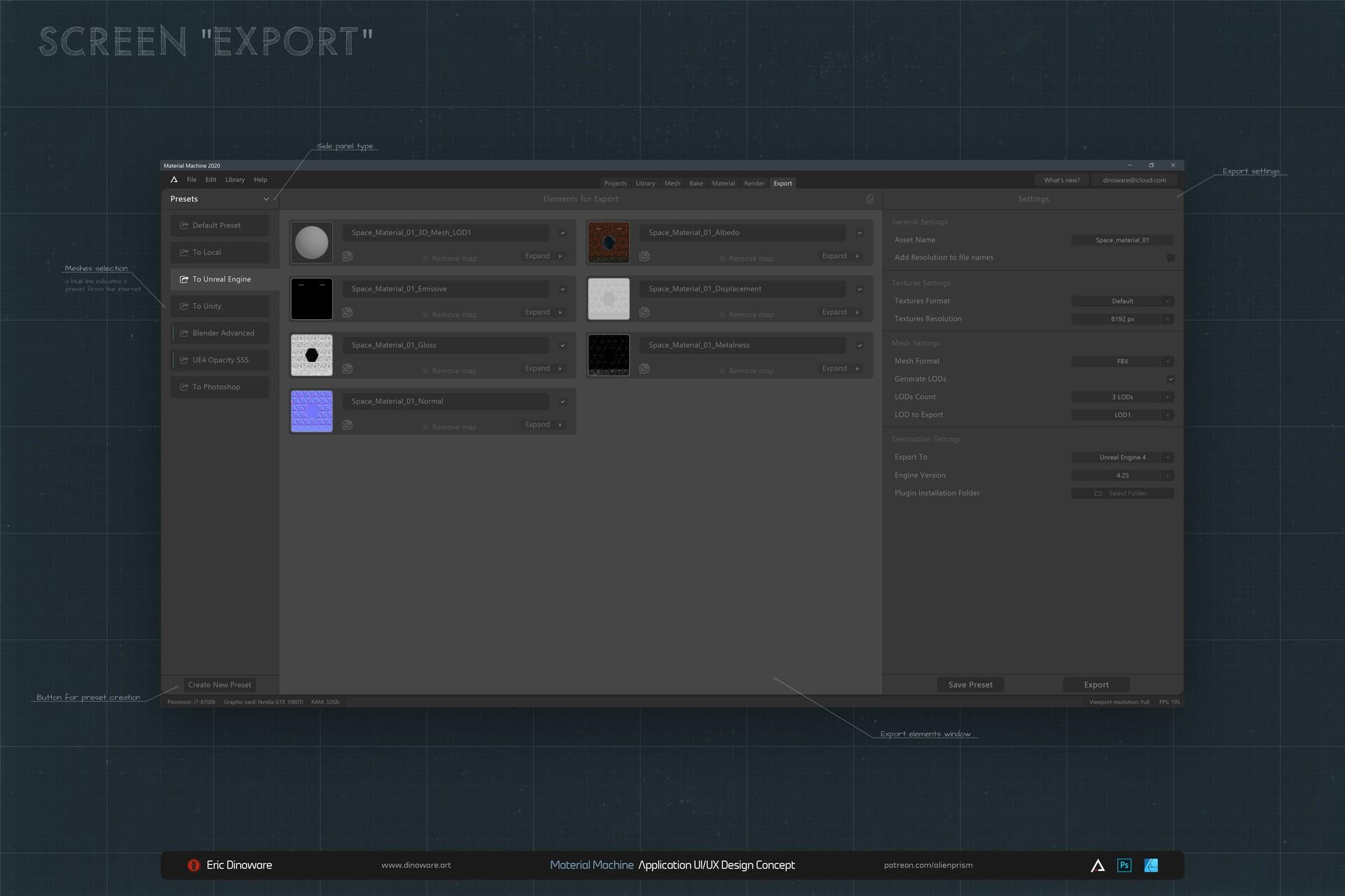 Screen: Export