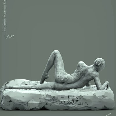 Surajit sen lady pose digital sculpture surajitsen nov2019