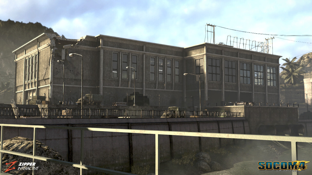 Fluid Dynamics, Dam control building. Responsible for modeling, world building, texturing & vertex painting.