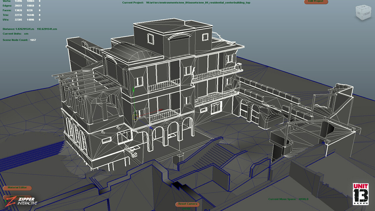 Residential area, wireframes of housing.