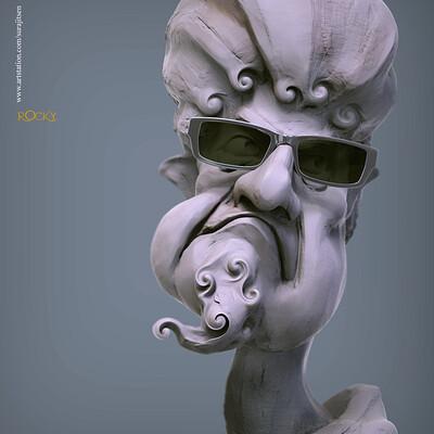 Surajit sen rocky digital sculpture surajitsen nov2019
