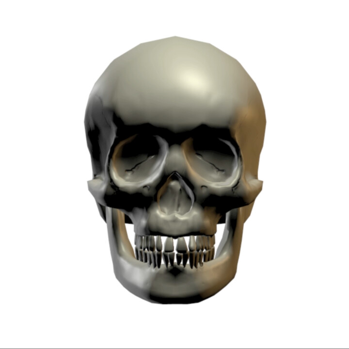 re-topped skull with normal map