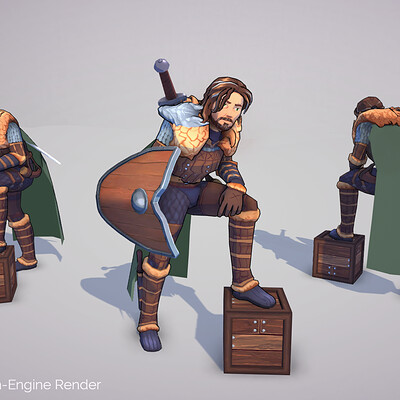 Handpainted Mobile RPG Characters