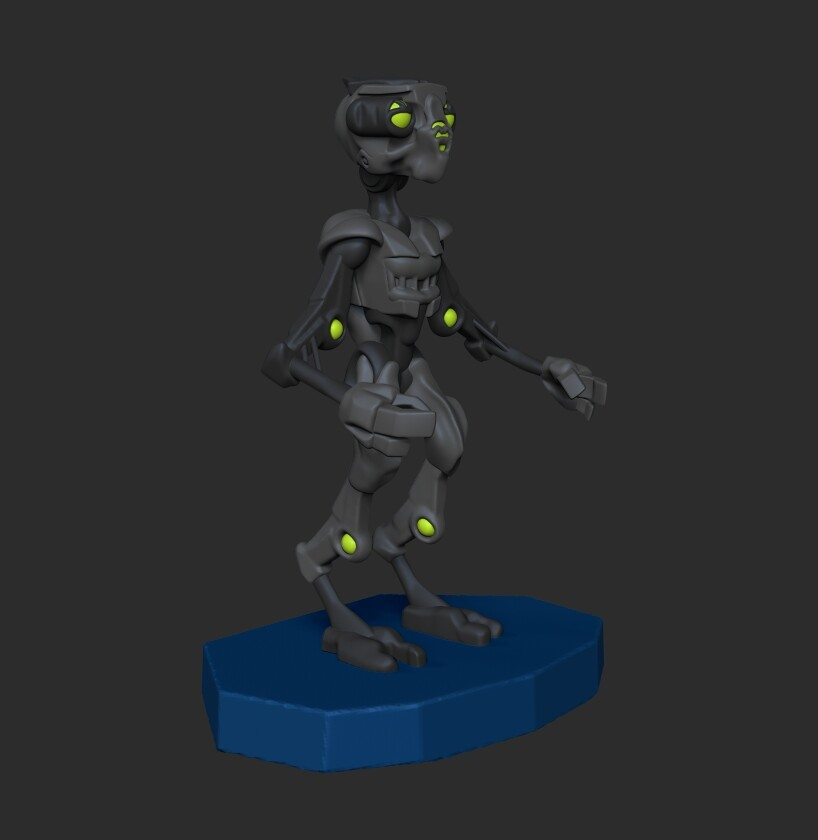 Scout windsor droid zbrush three quarter
